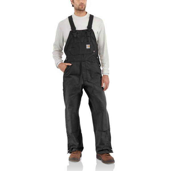 2f686411361f Carhartt Flame-Resistant Duck Bib Overall Unlined