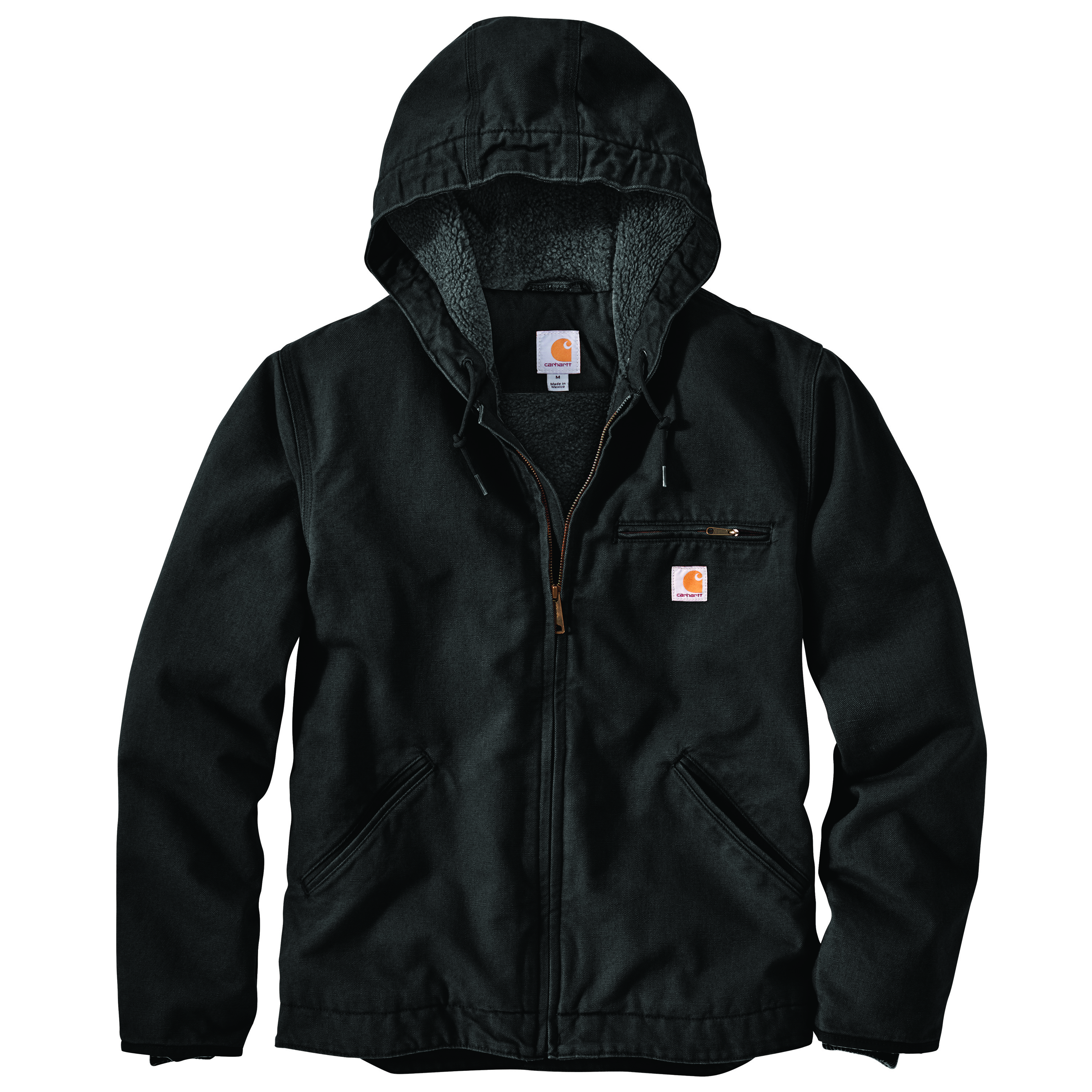 Carhartt Washed Duck Serpa-Lined Hooded Jacket