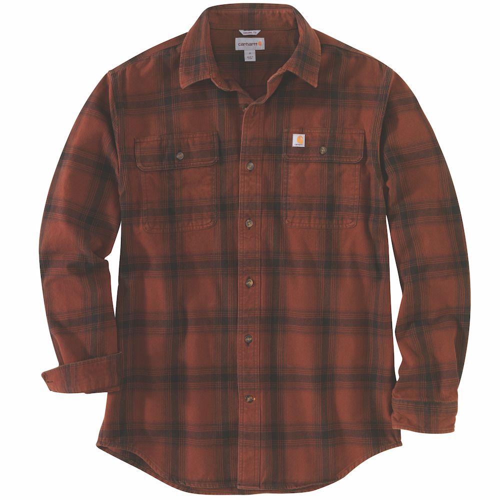 Carhartt Original Fit Flannel Long-Sleeve Plaid Shirt